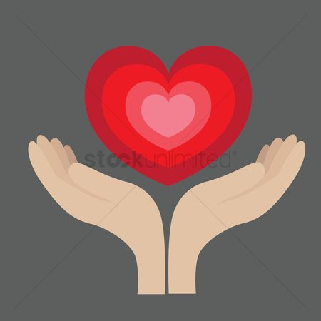 Romantic : Hands holding heart