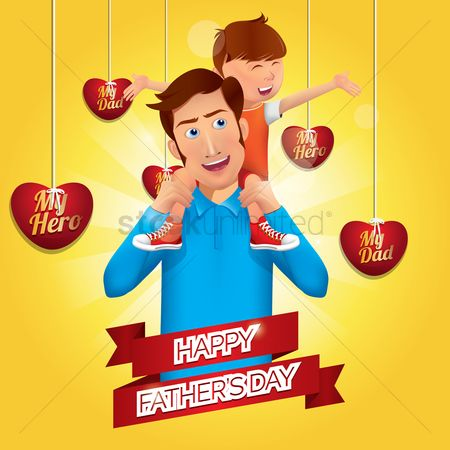 Celebration : Happy father s day design