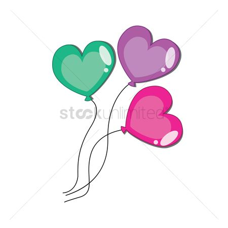 Party : Heart shaped balloons