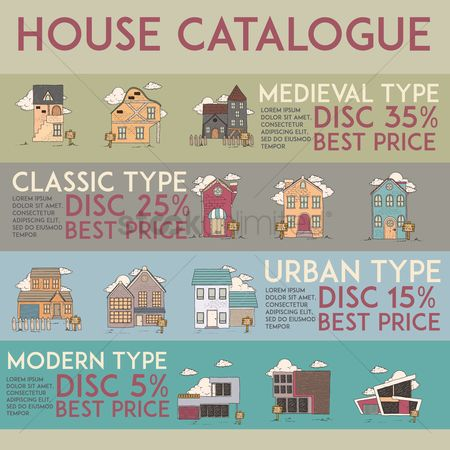 Infographic : House catalogue