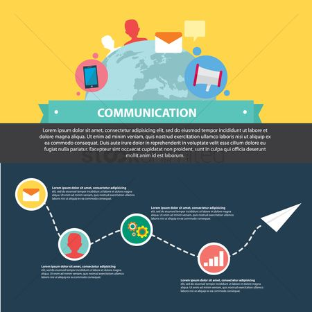 Banners : Infographic of communication