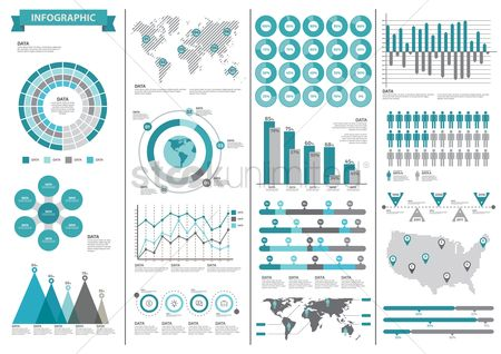 Vectors : Infographic template design