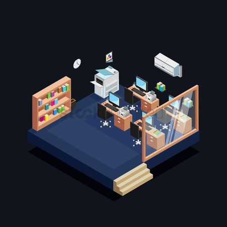 Interior : Isometric office
