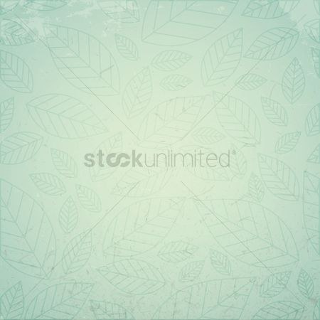 Grunge : Leaves background