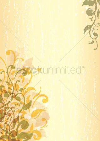 Grunge : Leaves border design