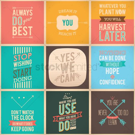 Vintage : Motivational quote collection