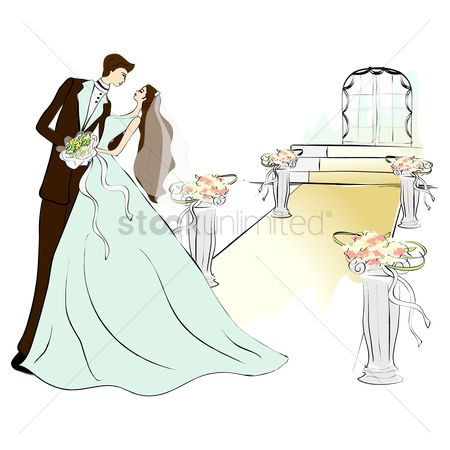 Romantic : Newlyweds dancing