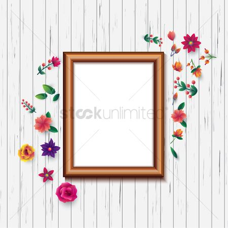 Interior : Photo frame on wall