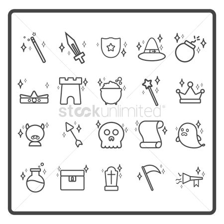 Icons : Set of fantasy icons