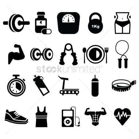 Icons : Set of fitness icons