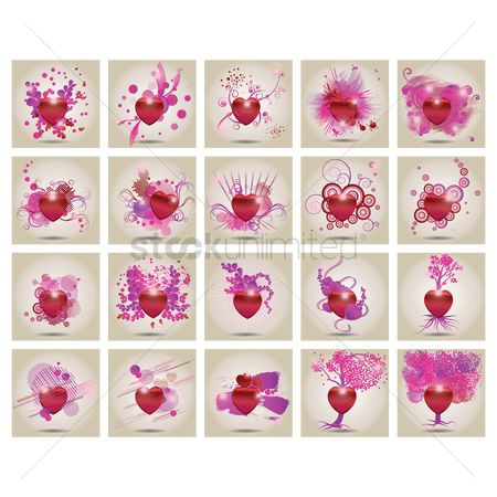 Heart : Set of heart icons