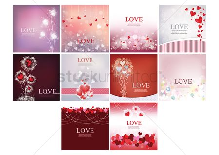 Romantic : Set of love wallpapers