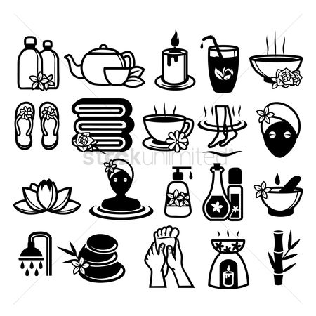 Spa : Set of spa icons