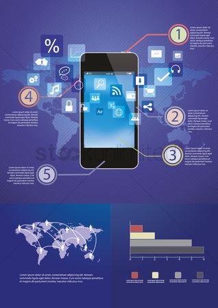 Shopping : Smartphone infographic