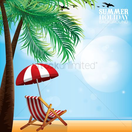 Birds : Summer holiday background