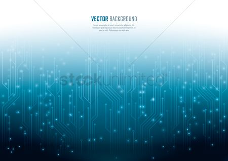 Vectors : Technical circuit board background
