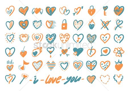 Music : Various heart icons