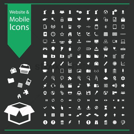 Shopping : Website and mobile icon collection