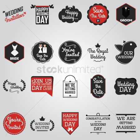 Ribbon : Wedding card design collection