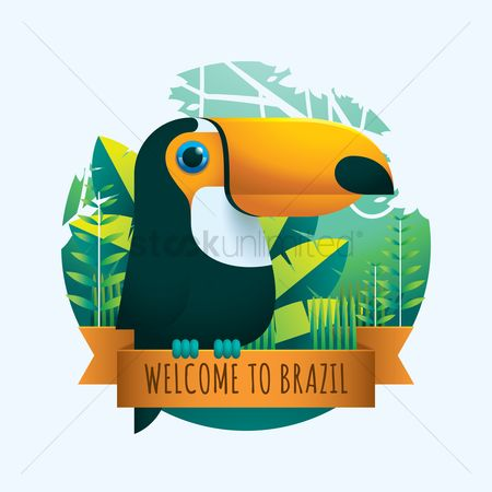 Ribbon : Welcome to brazil
