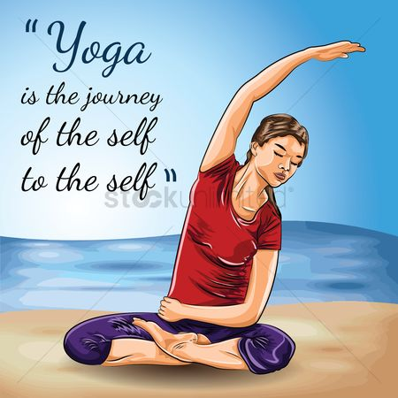 Vectors : Yoga motivational quote