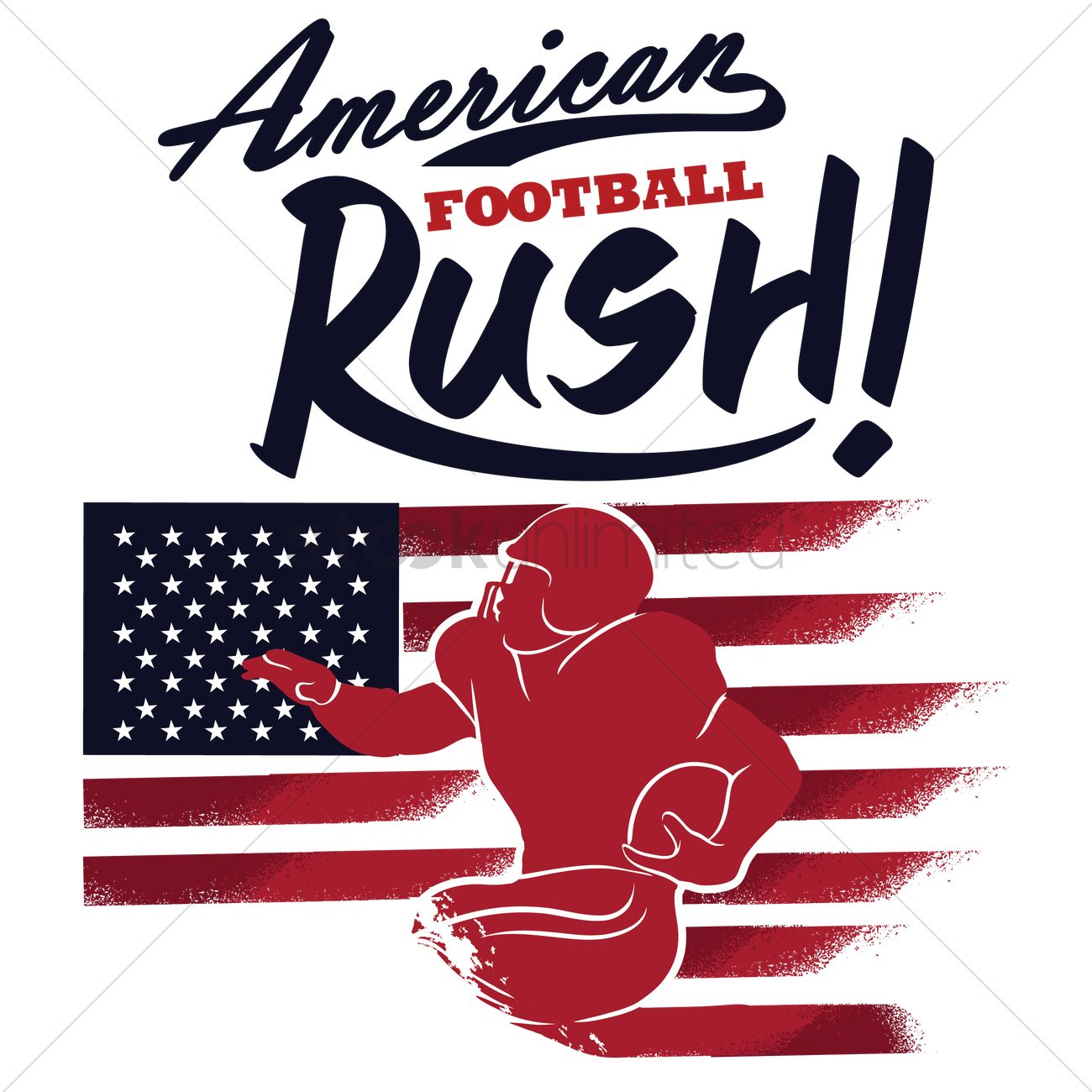 Poster design vector graphics - American Football Poster Design Vector Graphic