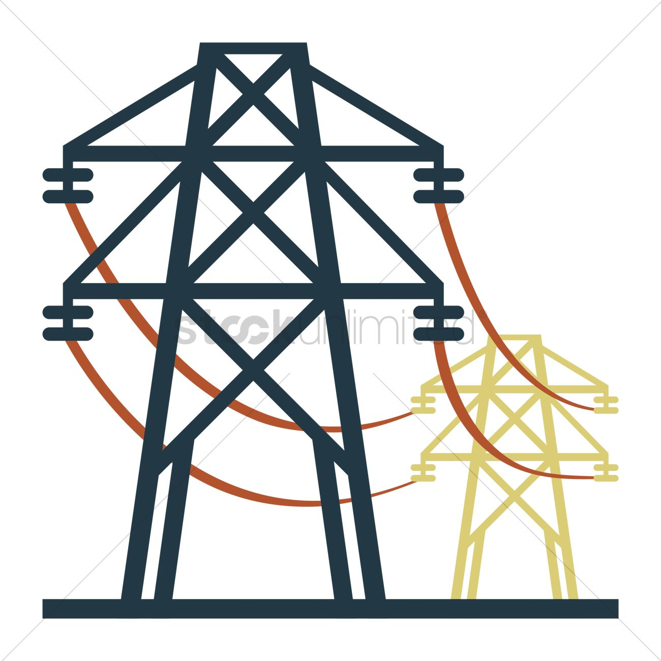 An electricity transmission tower Vector Image - 1244025 ...
