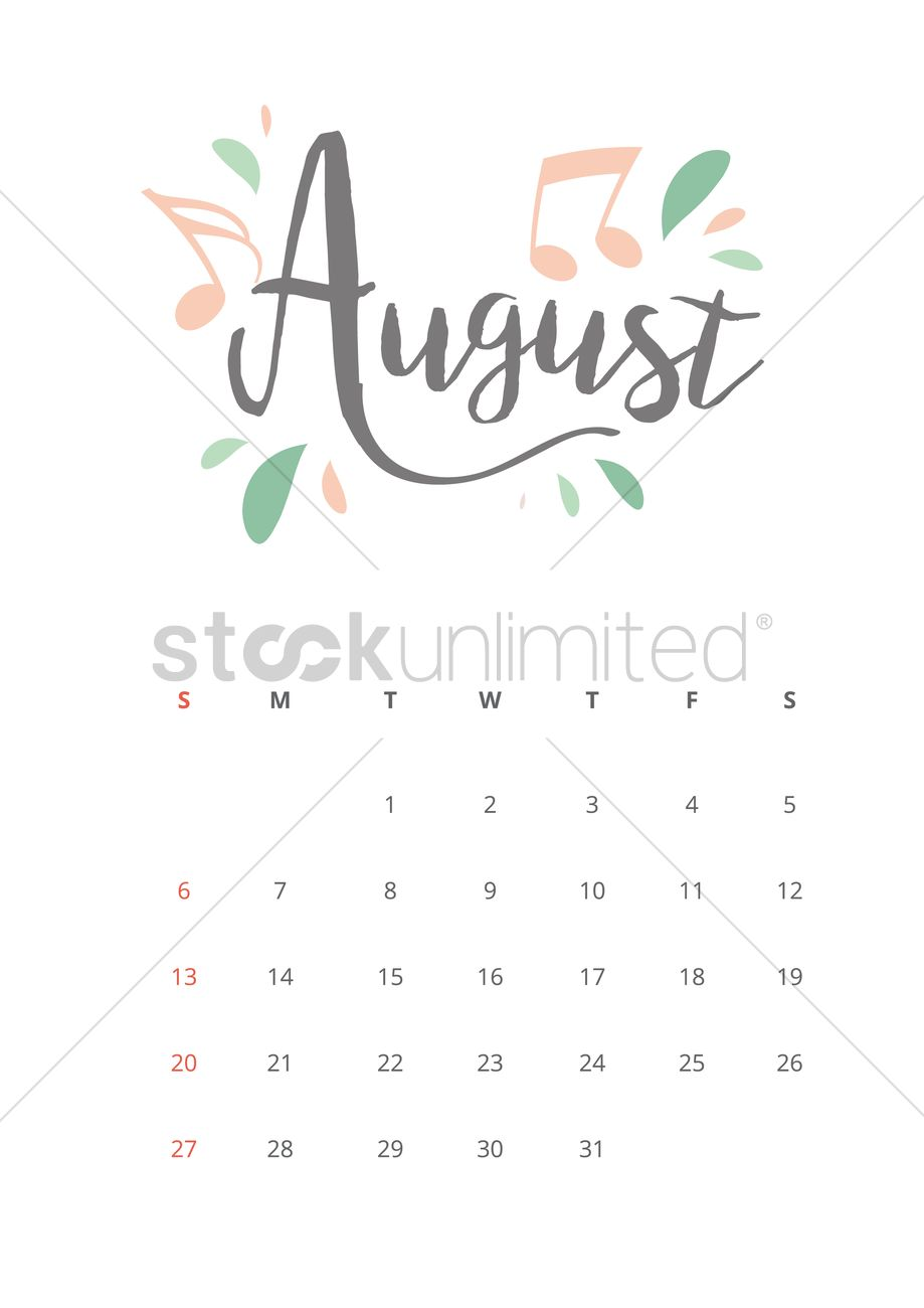 Cute Funny August 2017 Calendar And Wallpaper