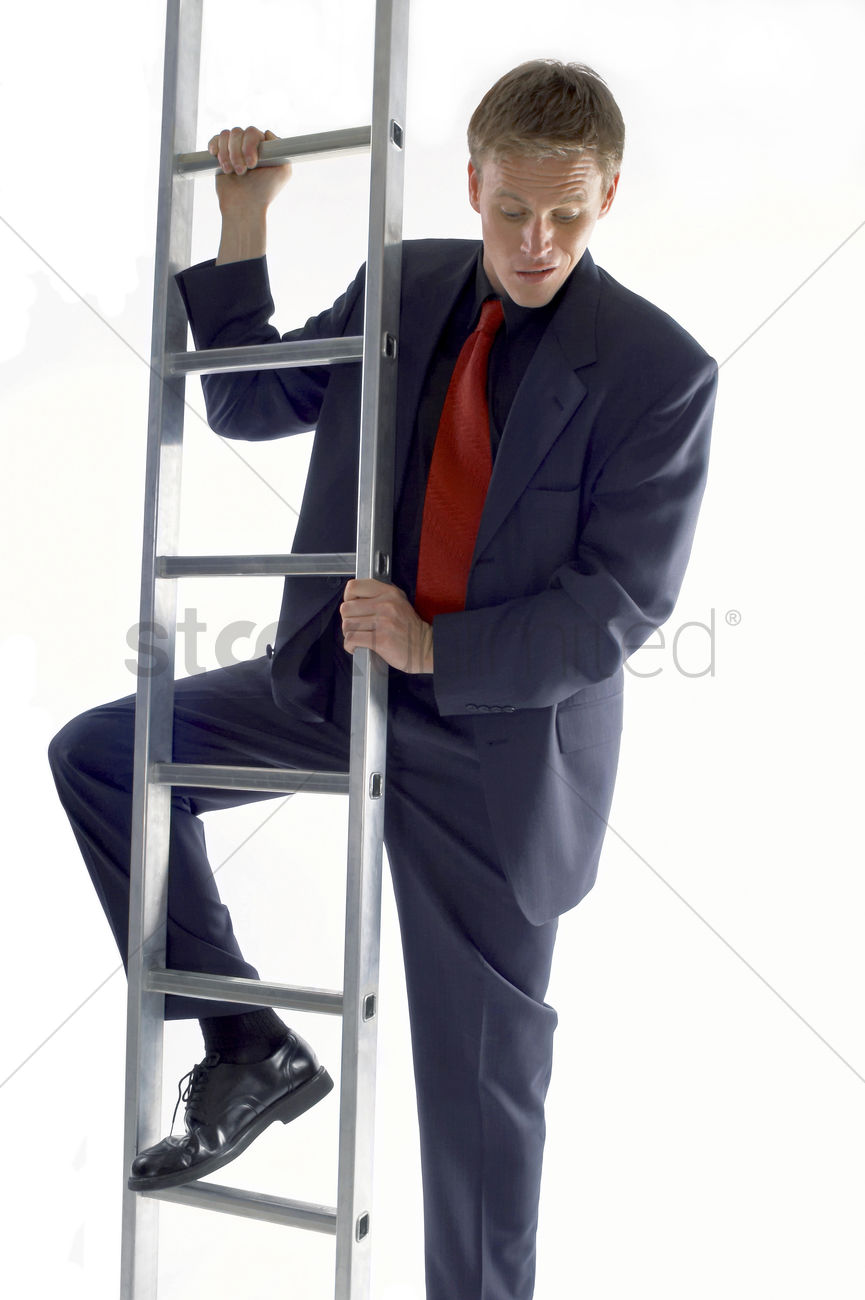 up the ladder
