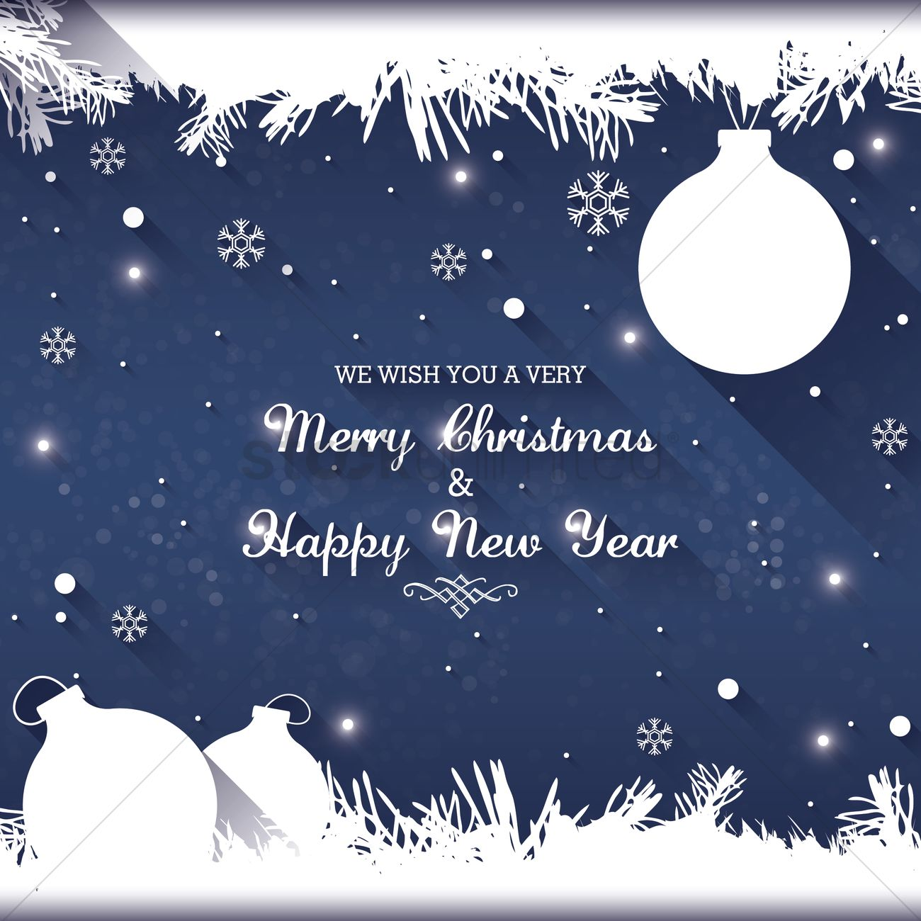 Christmas and new year greetings Vector Image - 1626361 ...