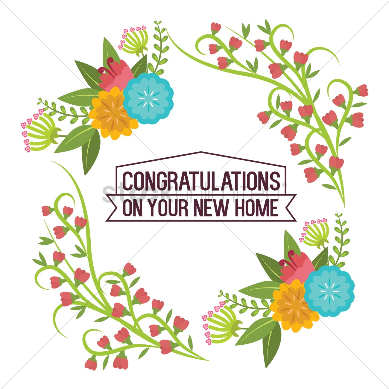 Congratulations on your new home Vector Image - 1797501