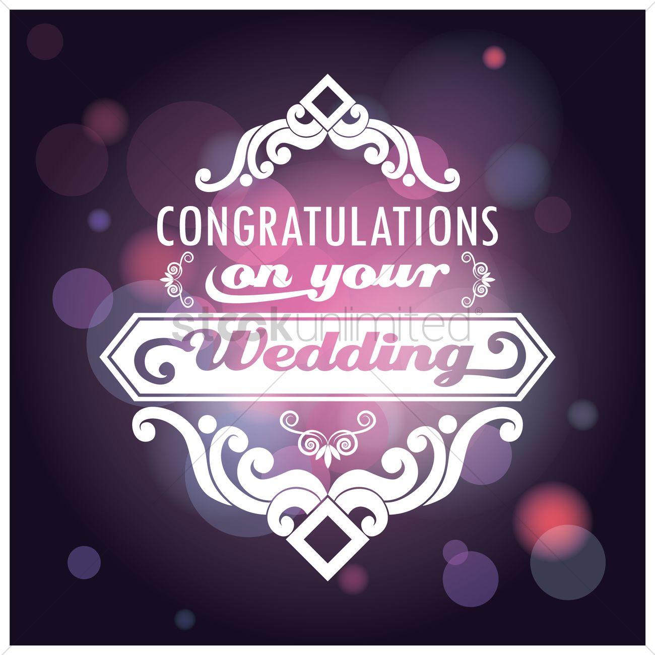 Congratulations On Your Wedding Card Vector Image