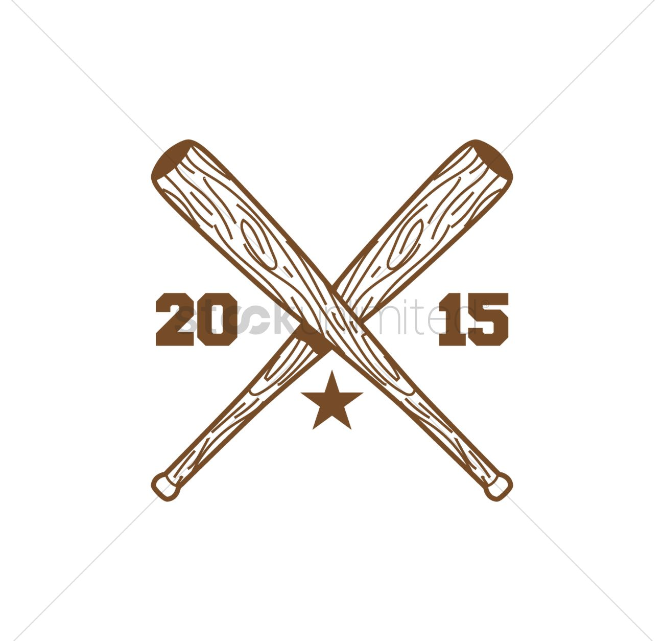 Crossed baseball bat Vector Image - 1523845 | StockUnlimited