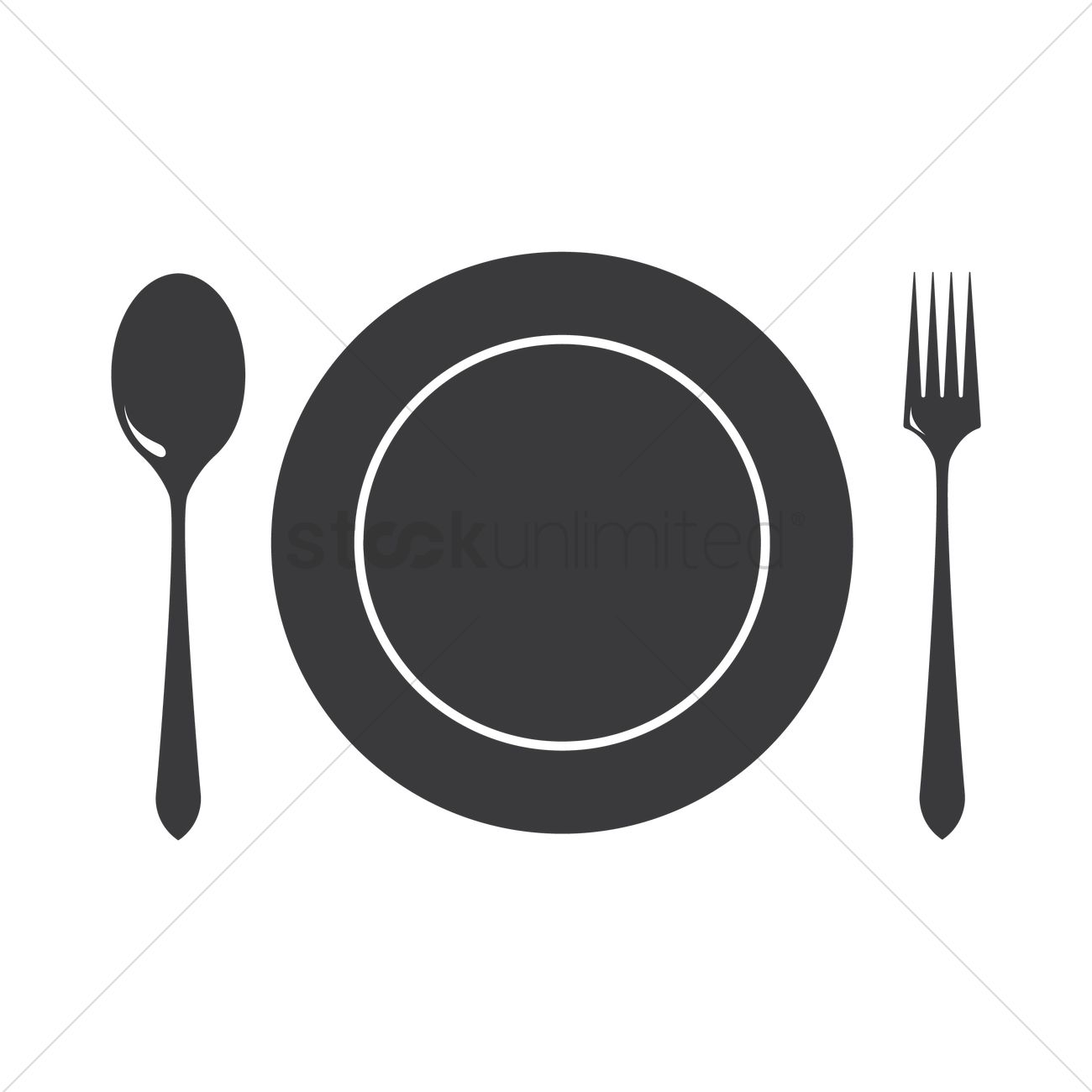 Dinner Plate With Cutlery Vector Image 1328917