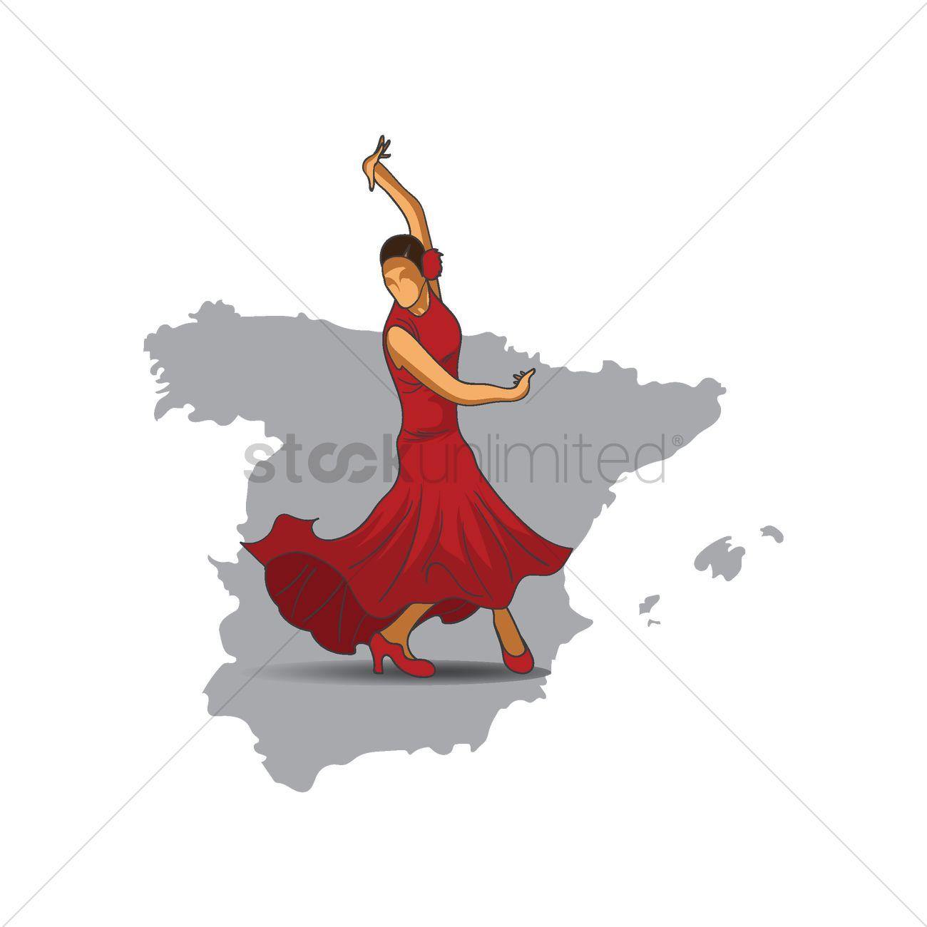 flamenco dancer vector image 1565593 stockunlimited