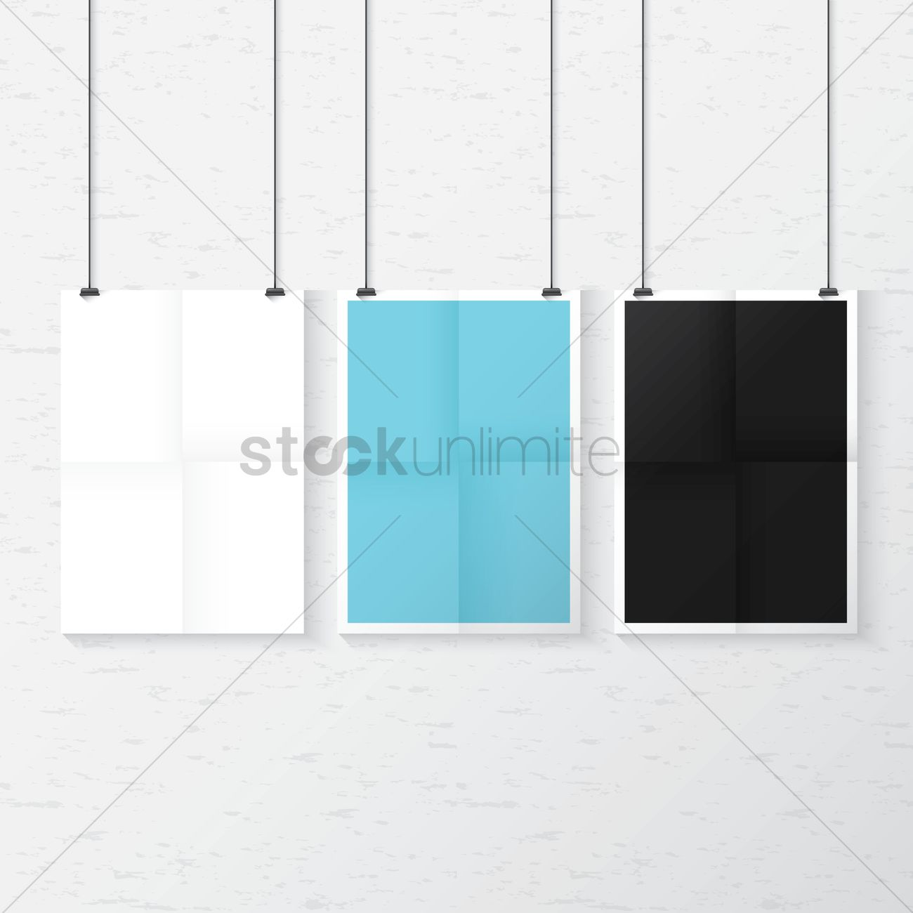 Hanging Poster Set Vector Graphic