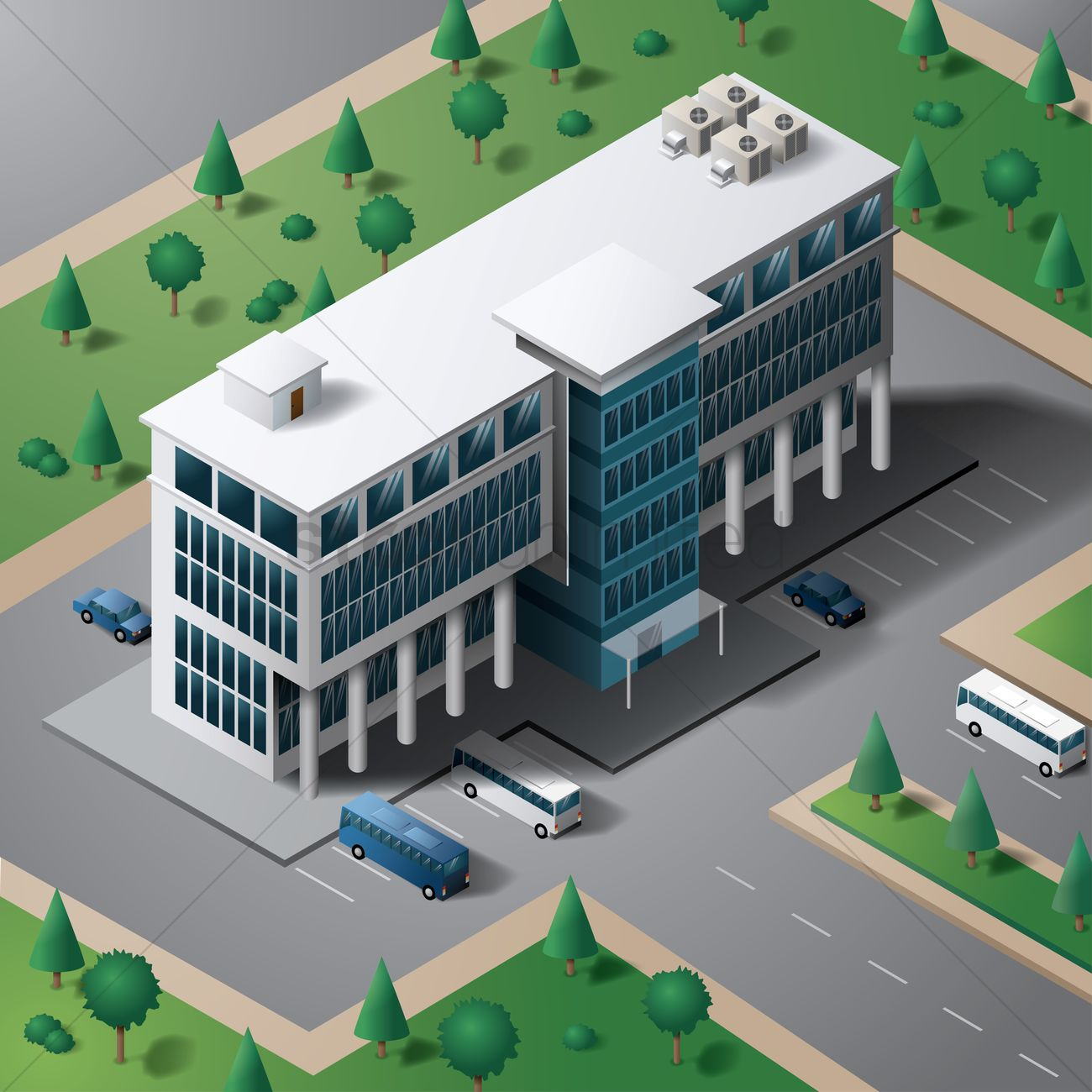 Isometric Building Vector Image 1547177 Stockunlimited