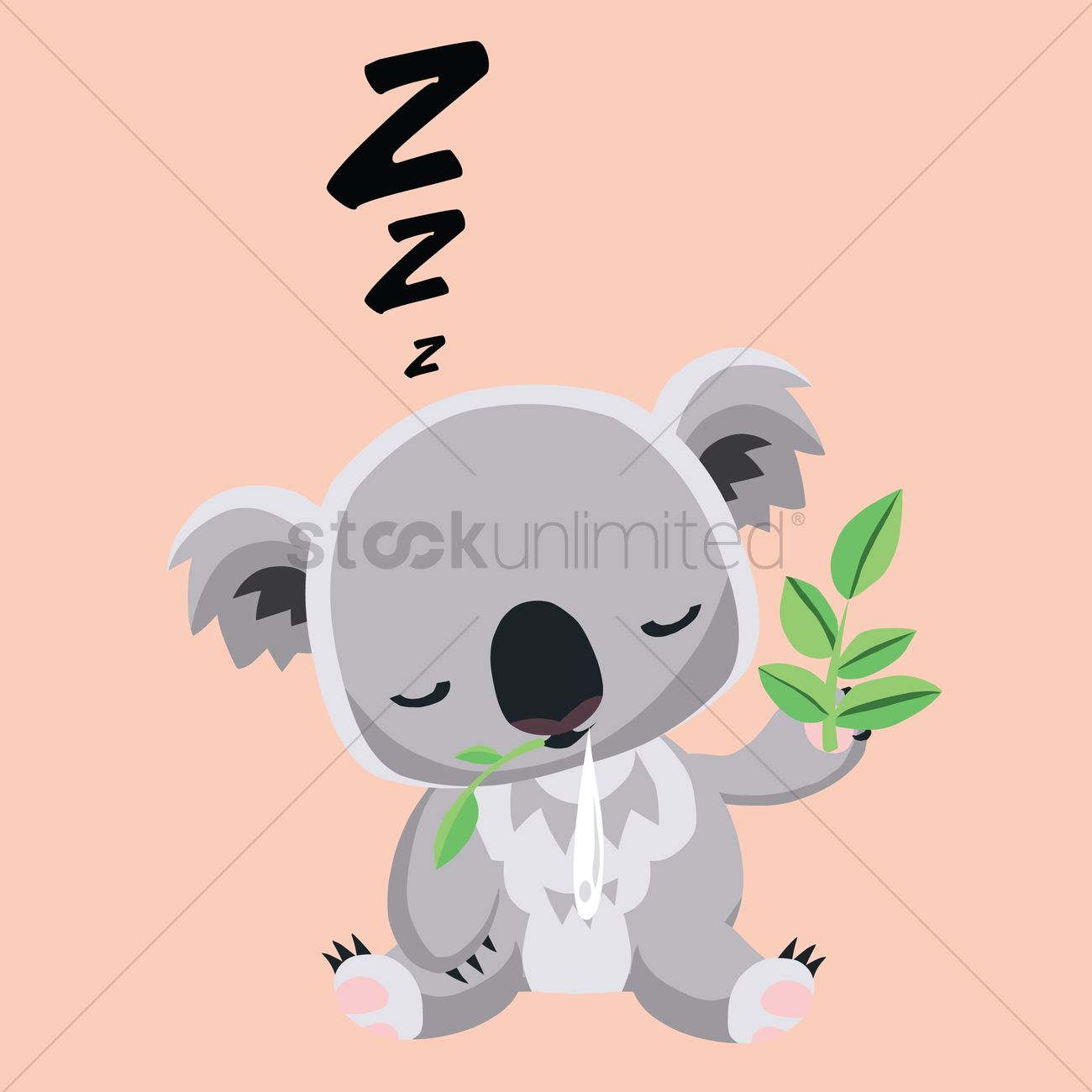 Free Koala bear sleeping Vector Image  1258793  StockUnlimited