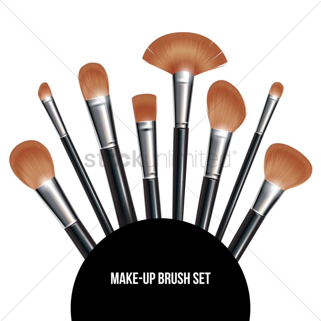 makeup brush vector - photo #1