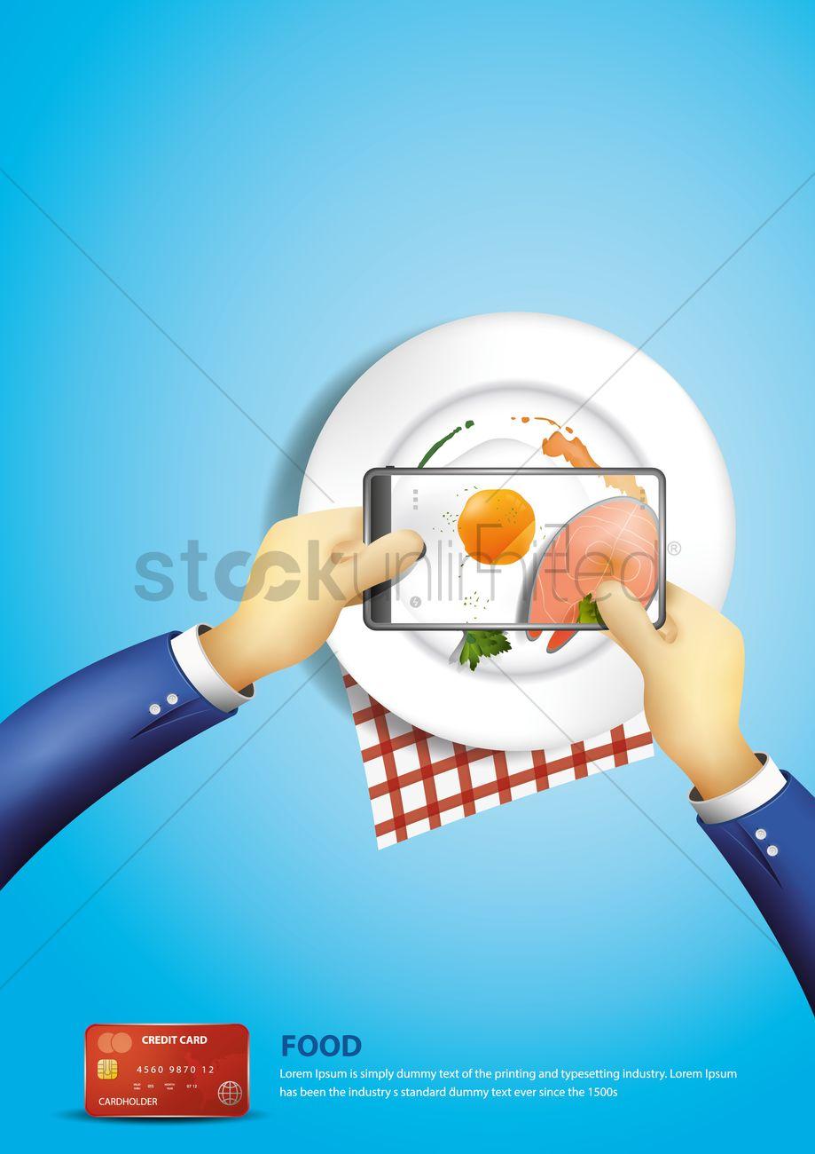 Poster design online - Order Food Online Poster Design Vector Graphic
