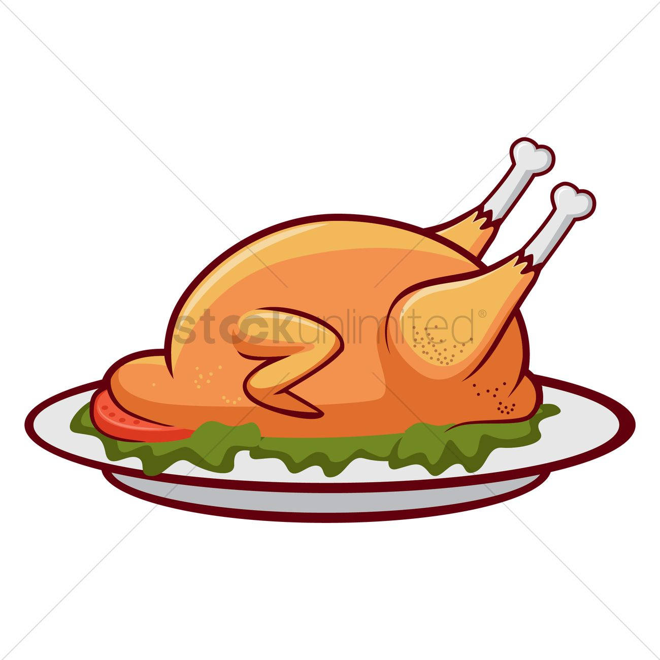 Roast chicken Vector I...