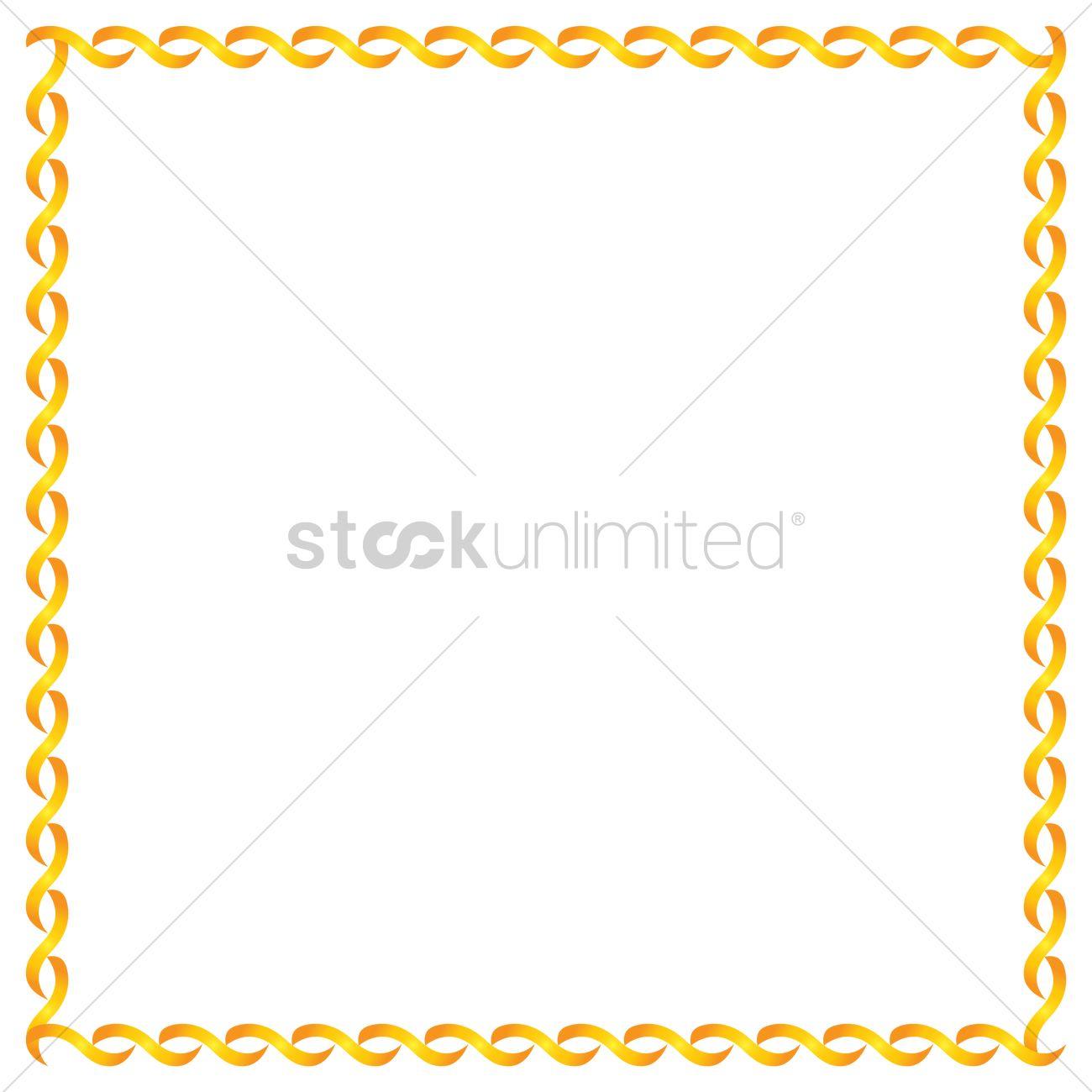 simple pattern frame border vector image 1343205
