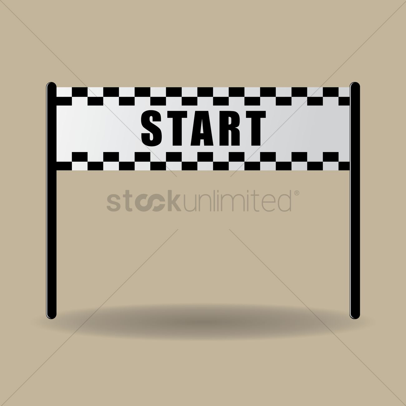 starting line banner vector image 1432057 stockunlimited