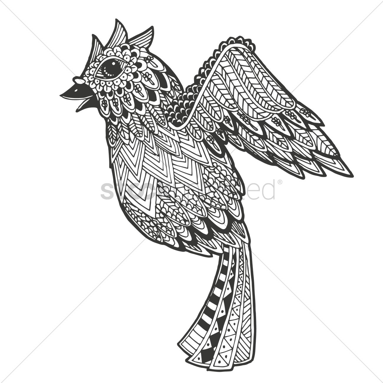 Stylized Bird Design Vector Image 1544173 Stockunlimited