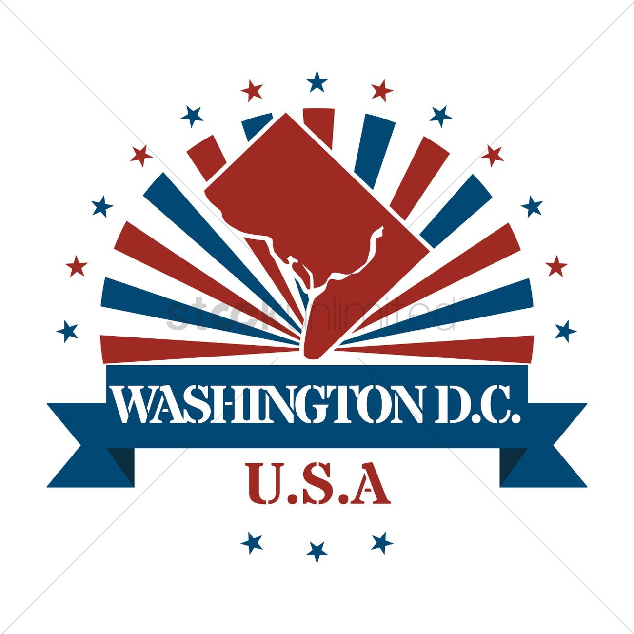 washington dc state map label vector image stockunlimited