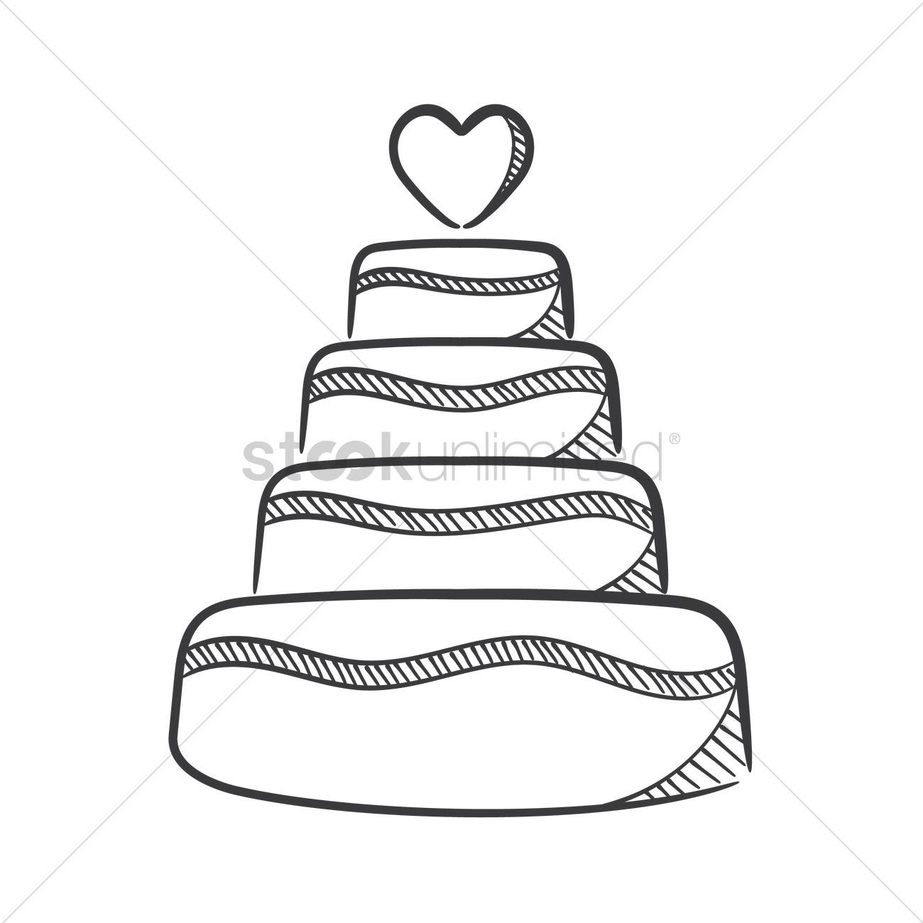 Cake Drawing Clip Art : Wedding cake Vector Image - 1637213 StockUnlimited
