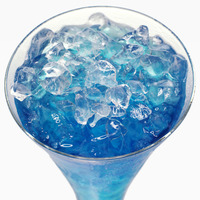 Blue curacao cocktail with ice