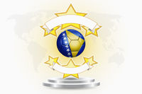 Bosnia and herzegovina soccer ball emblem