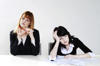 Businesswomen feeling lazy