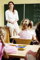 Children and teacher in the classroom